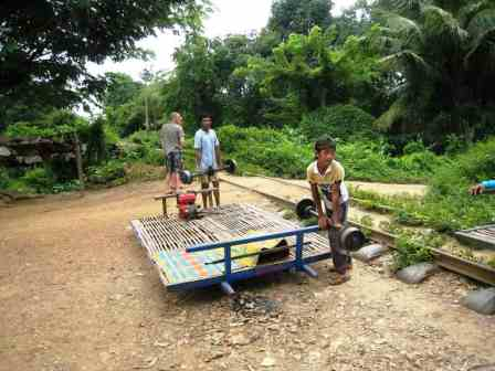 Bamboo_train Bambou_train_ou_Train_Bamboo à Battambang